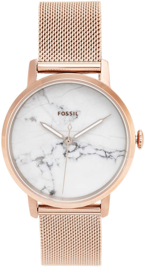 Fossil ES4404 Rose Gold-Tone Watch