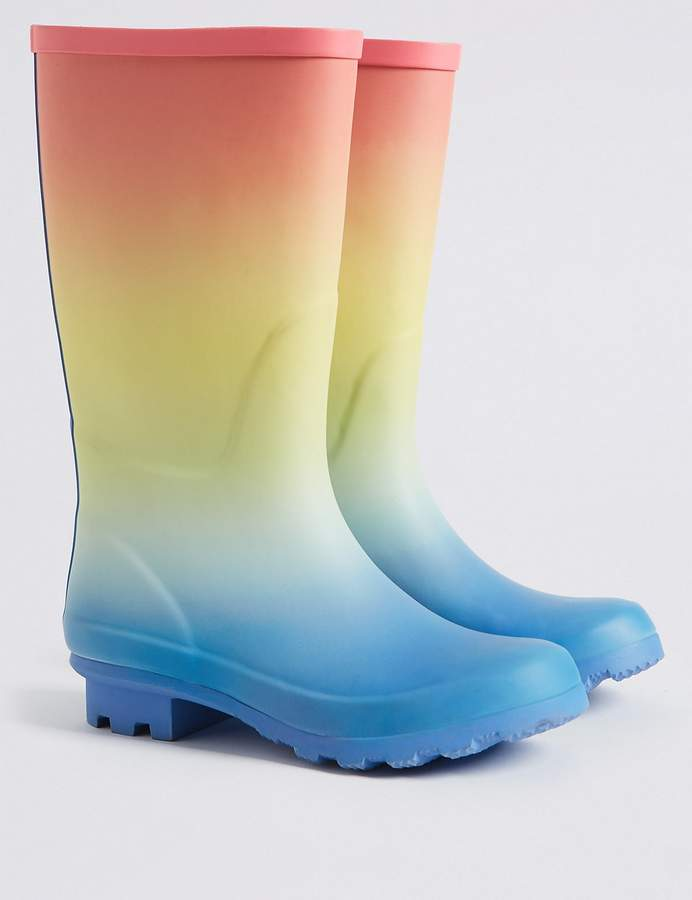 Marks and Spencer Kids Rainbow Ombre Wellies