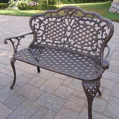 mcgrady aluminum garden bench color antique bronze