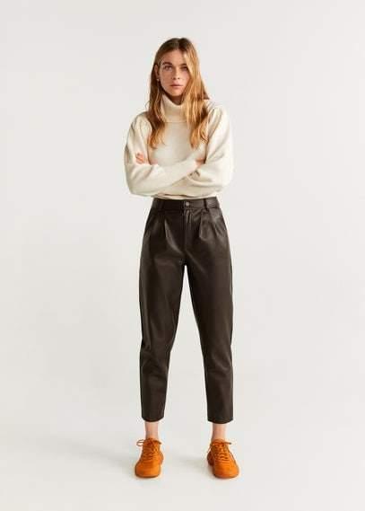 MANGO Dart hight waist trousers