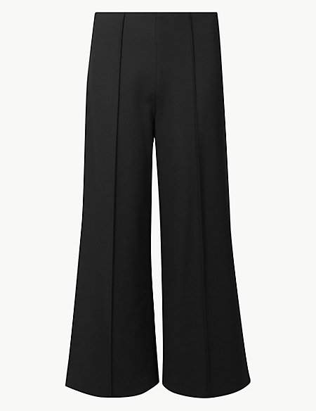 M&S Collection Ponte Wide 7/8th Leg Trousers