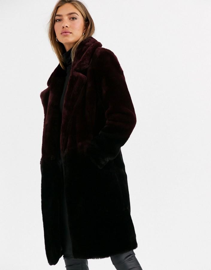 Urbancode coat in ombre faux fur