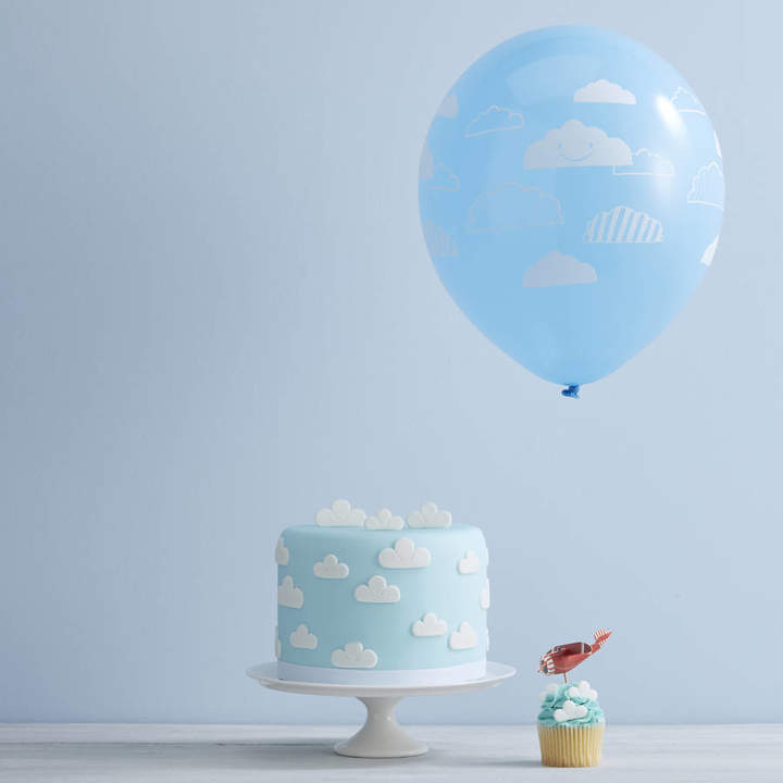 Ginger Ray Blue And White Cloud Party Balloons