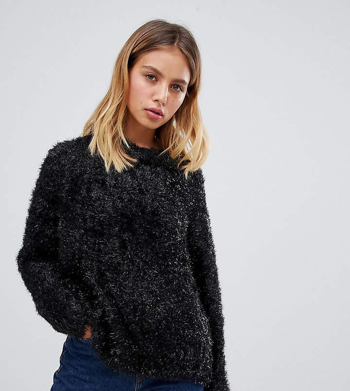 Weekday Sparkle Fluffy Knit-Black