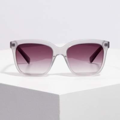 The White Company Square Acetate Sunglasses , Grey, One Size