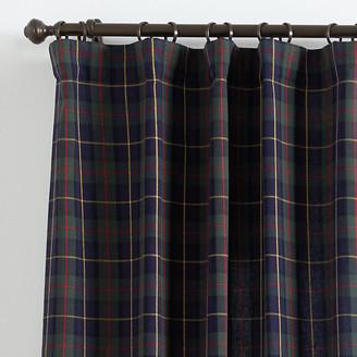 plaid curtain panels shop the world s