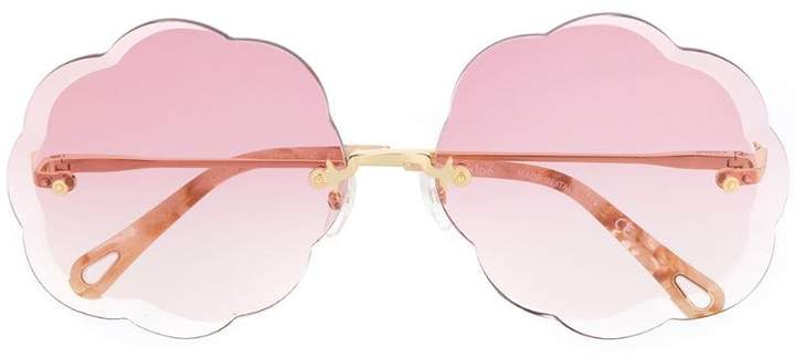 Chloé Eyewear Rosie scalloped round-frame sunglasses
