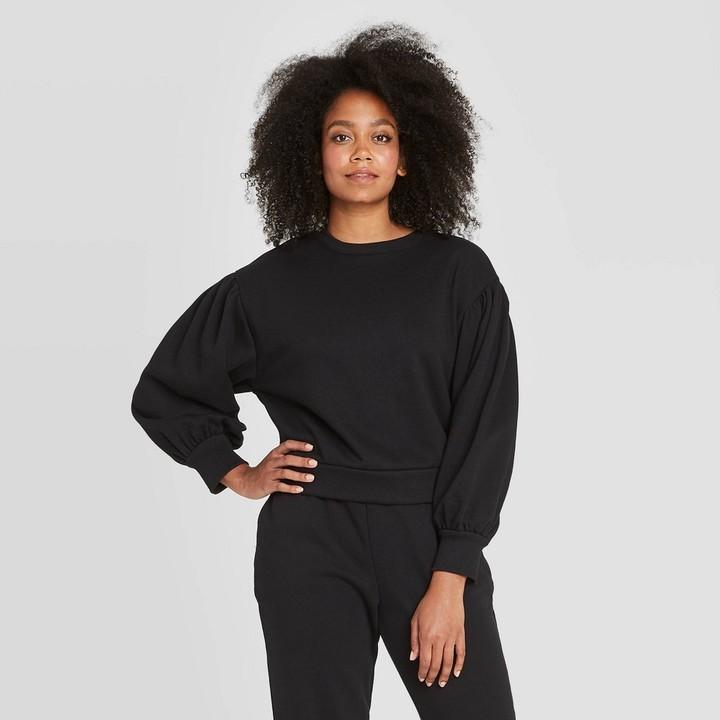 Prologue - black sweatshirt with balloon sleeves