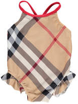 Sale - Lundy Tartan Swimsuit - Burberry