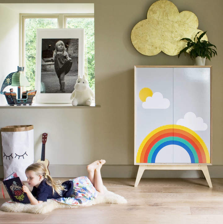 Scout & Boo 'Rainbow' Childrens Shelved Cupboard