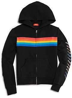 Butter Girls' Rainbow-Striped Hoodie - Big Kid