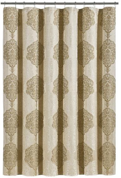 five queens court courtney shower curtain gold