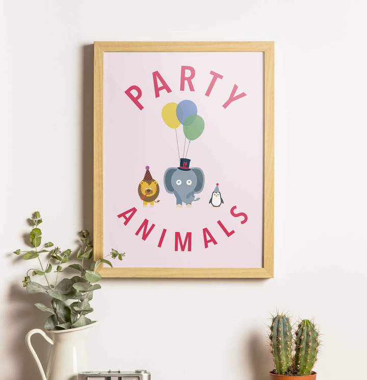 Quite Literally Design Party Animals Print