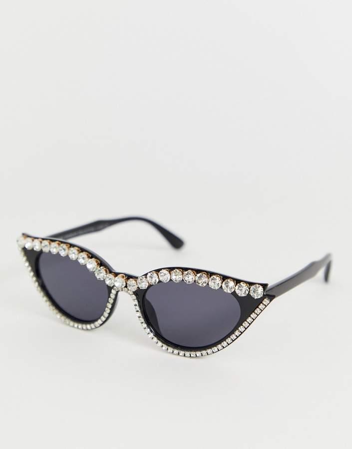 7x SVNX diamante cat eye sunglasses