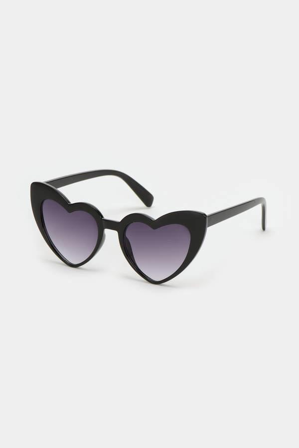 Ardene Heart Cat Eye Sunglasses