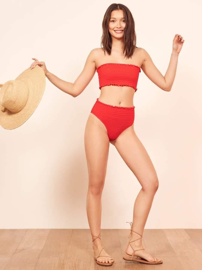 Reformation Tide Bikini Top