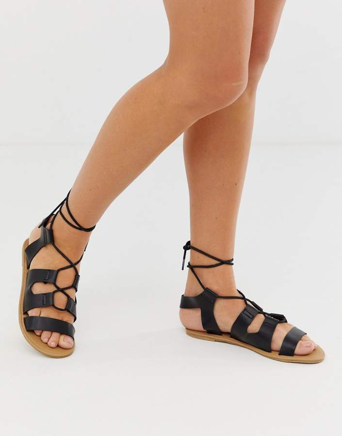 South Beach lace up gladiator sandals