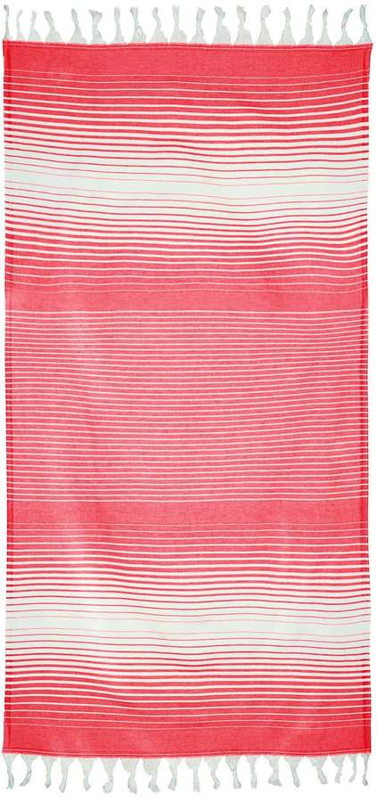 Lorima Rainbow Peshtemal Red & White