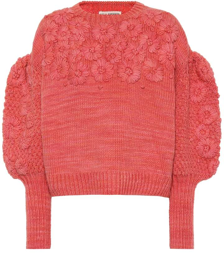Ulla Johnson Ciel floral wool sweater