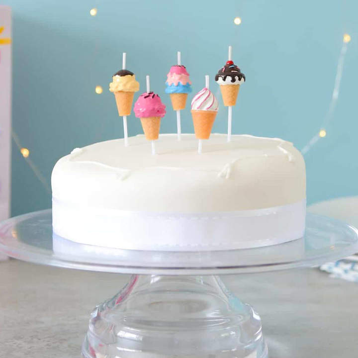 Peach Blossom Ice Cream Birthday Cake Party Candles