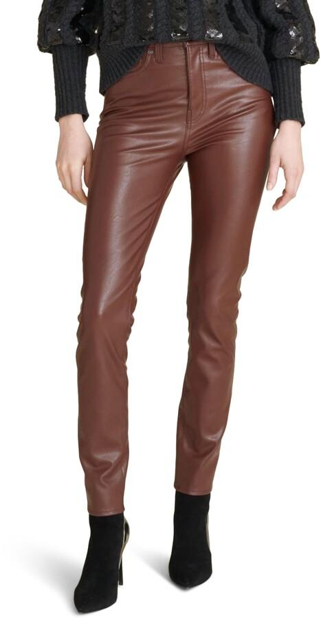 Veronica Beard Debbie High Waist Faux Leather Skinny Pants
