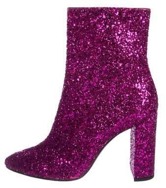 Saint Laurent Lou 95 Glitter Boots w/ Tags