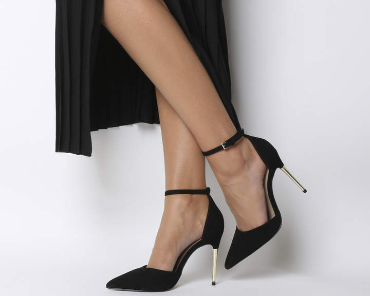 Office Hustle Court Heels Black