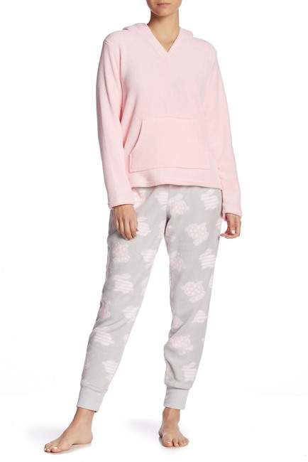 PJ Couture Bunny Plush Hoodie & Pants Pajama 2-Piece Set