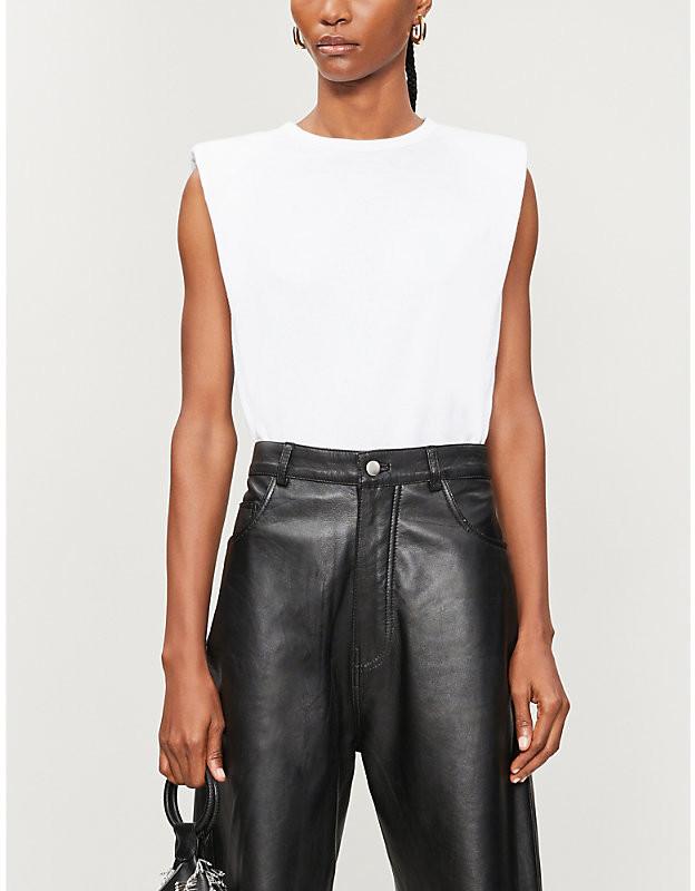 Reformation Belfort sleeveless cotton-jersey T-shirt
