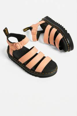 Dr. Martens Blair Coral Sandals - orange UK 5 at Urban Outfitters
