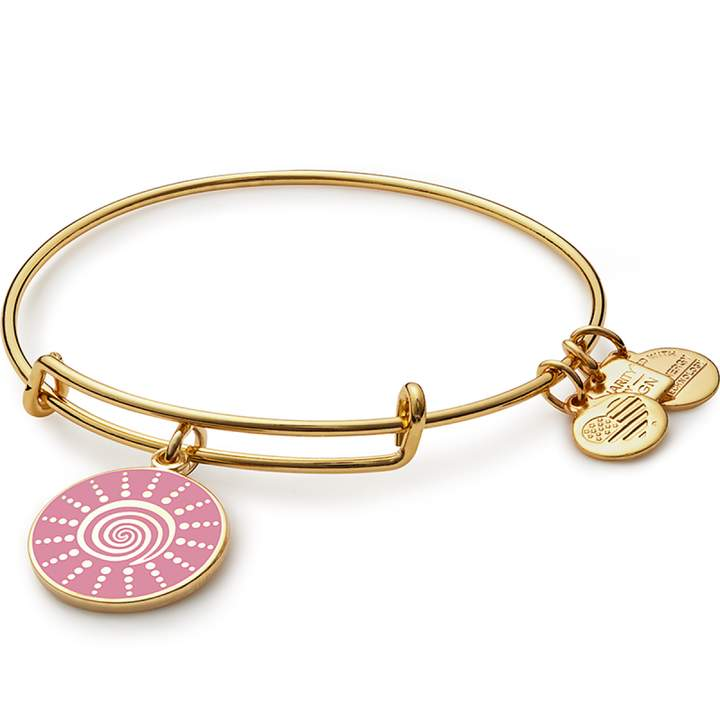 Alex and Ani Spiral Sun Charm Bangle   Breast Cancer Research Foundation