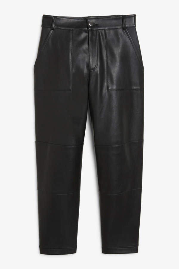 Monki Faux leather trousers