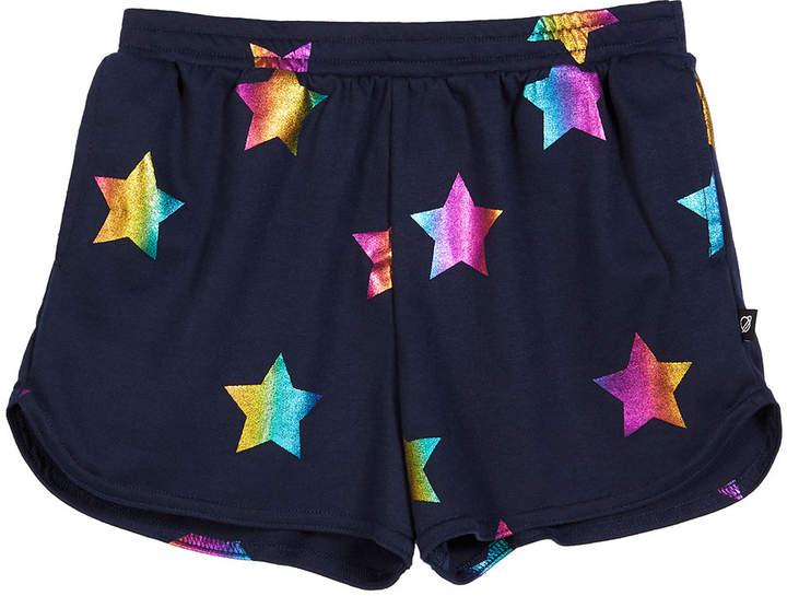 Terez Rainbow Star Foil-Print Shorts, Size 7-16