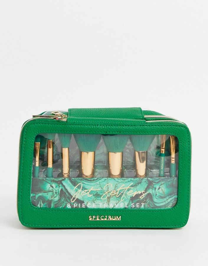 Spectrum Malachite Jet Setter Makeup Brush Set-No Colour