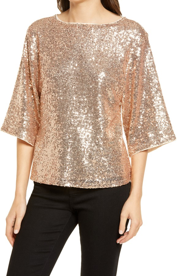 Chelsea28 - Sequin Crewneck Top