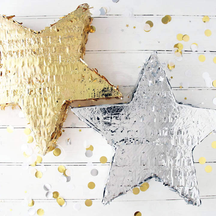 Postbox Party Gold And Silver Star Party Piñata