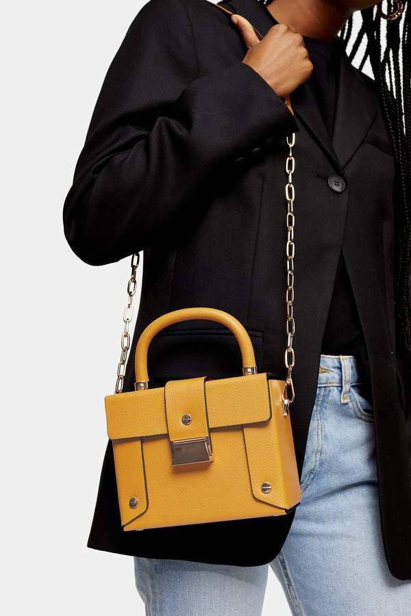 Topshop Womens Strobe Mustard Boxy Bag - Mustard