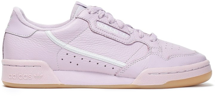 Adidas Originals Continental 80 Perforated Textured-leather Sneakers