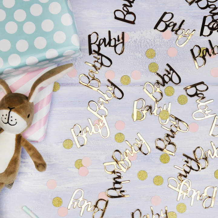 Postbox Party Baby Shower Gold Or Rose Gold Table Confetti