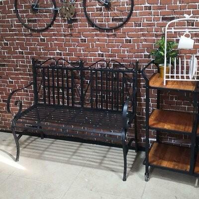 westerville indoor and outdoor metal garden bench