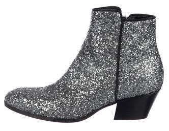 Giuseppe Zanotti Glitter Ankle Boots Silver Giuseppe Zanotti Glitter Ankle Boots
