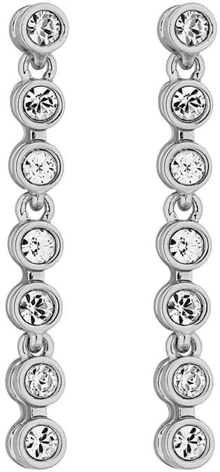 Jon Richard - Silver Plated Tennis Crystal Drop Earring Embellished With Swarovski&#174 Crystals