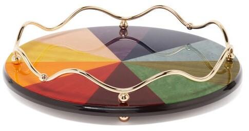 Matilda Goad - Rainbow Spectrum Large Lacquered Tray - Multi