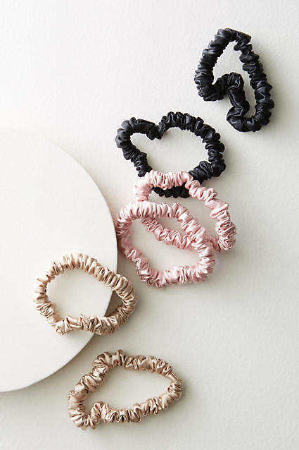 Slip Silk Small Scrunchie Set By Slip in Gold Size ALL