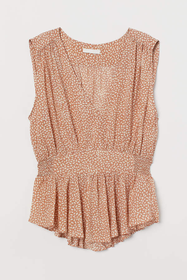 H&M - Lyocell-blend Top - Orange