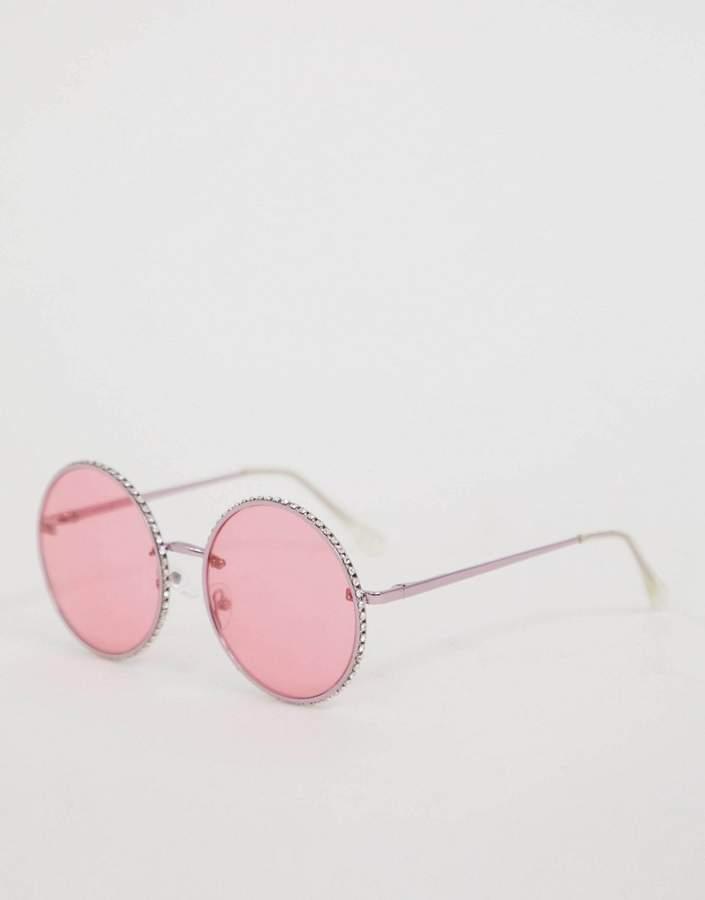 Skinnydip Skinny Dip Jennifer Pink Sunglasses