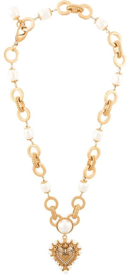 DG heart plaque necklace