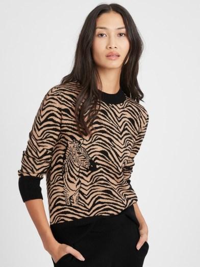 Banana Republic zebra sweater