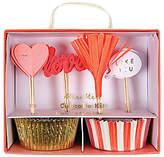 Meri Meri Valentine Hearts Cupcake Kit, Pink/Multi