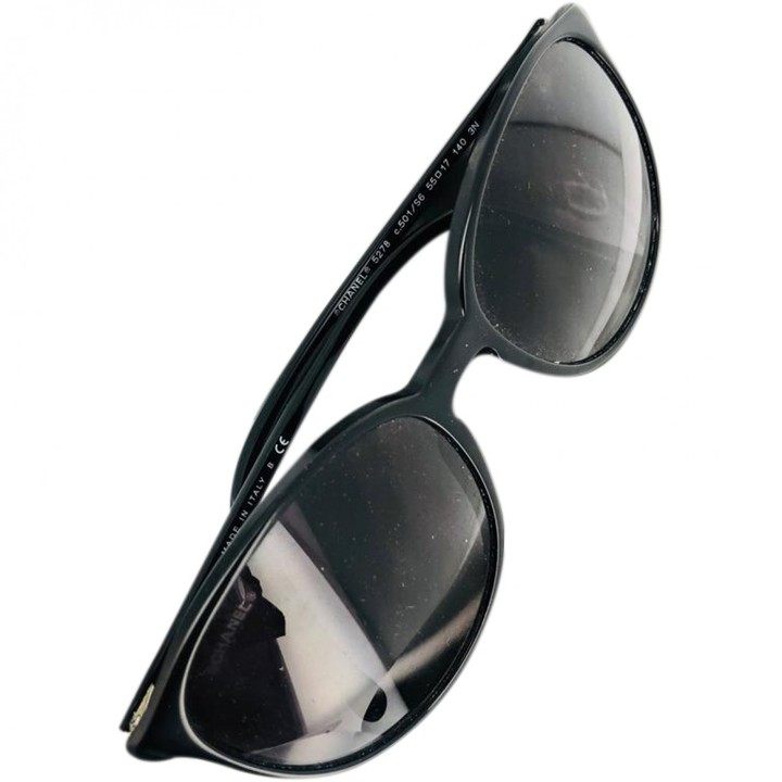 Chanel \N Black Plastic Sunglasses